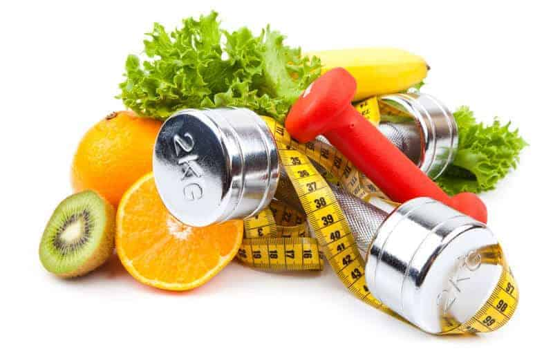 healthy fruits and weight loss equipment