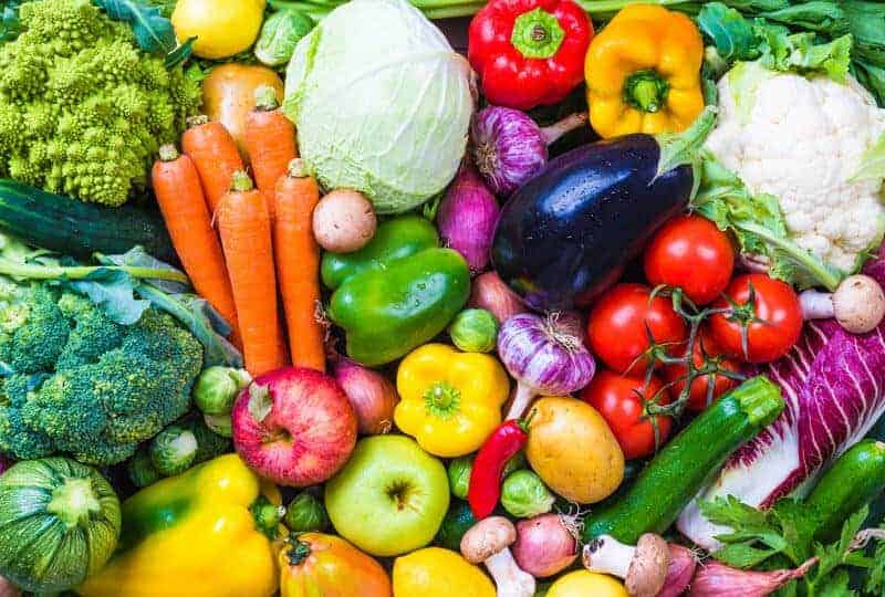 various colorful vegetables for healthy eating habits