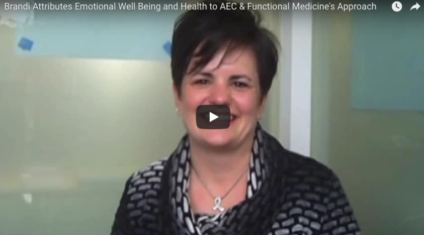Brandi Attributes Emotional Well Being and Health to AEC & Functional Medicine's Approach
