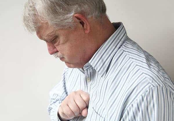 man with chest pain and a hiatal hernia