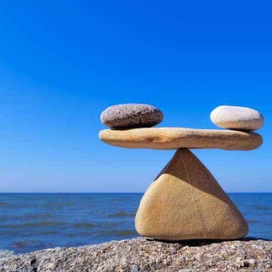 rocks maintaining balance